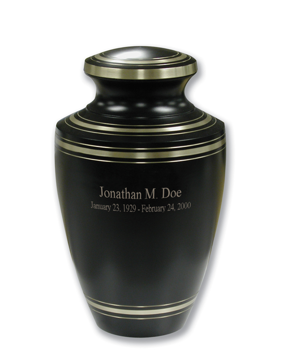 Black Elite Keepsake $ 30.00  3H x 1.75 Dia (Nominal Cubic Inches)