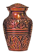 Copper Oak Keepsake $ 30.00 3H x 1.75 Dia (Nominal Cubic Inches)