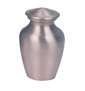 Satin Pewter Keepsake  30.00 3 H x 1.75 Dia Nominal Cubic Inches