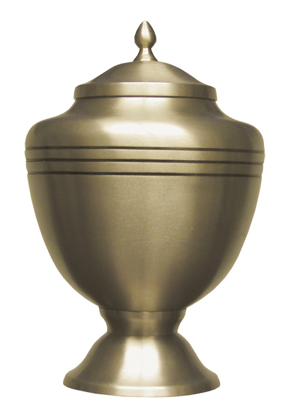 Gold Chalice Keepsake  30.00 3 H x 1.75 Dia Nominal Cubic Inches