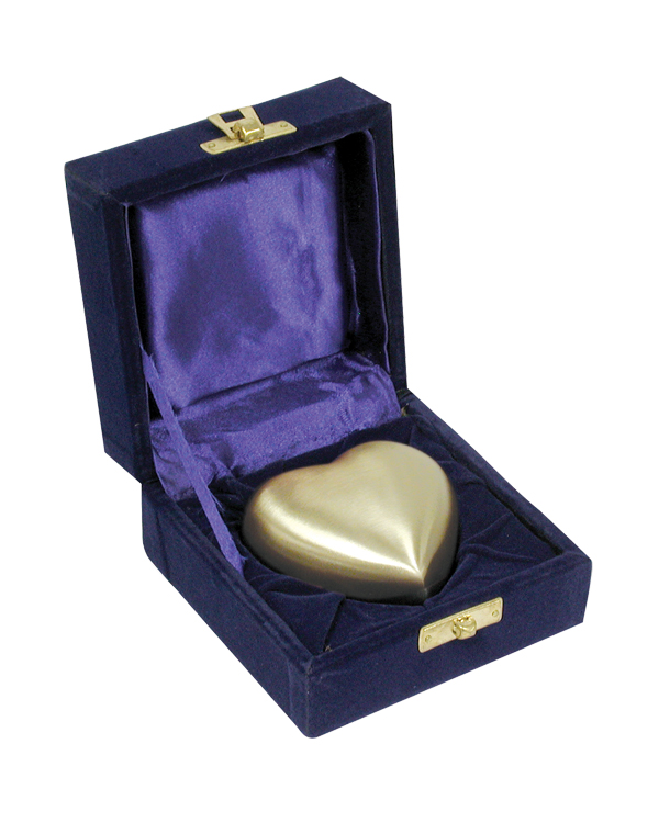 Brass Heart Shaped Keepsake with Box  75.00 2.75x2.75
