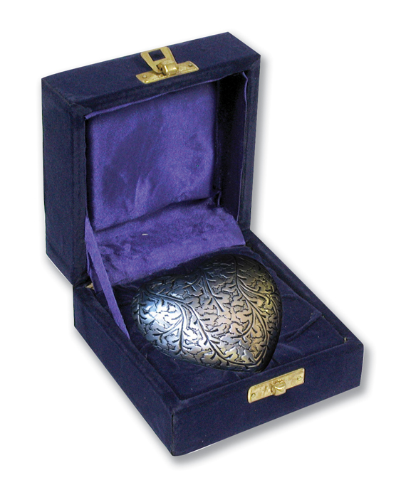 Silver Oak Heart Shaped Keepsake with Box  75.00 2.75x 2.75