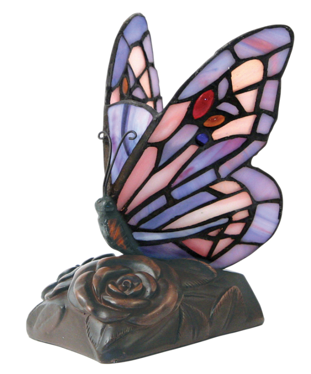 Tiffany Style Butterfly Lamp  144.00 4.75 L x 4.75 W x 6.5 H