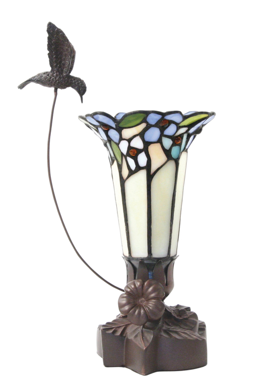 Tiffany Style Bouquet Lamp with Hummingbird  155.00 6 L x 6 W x 11.75 H