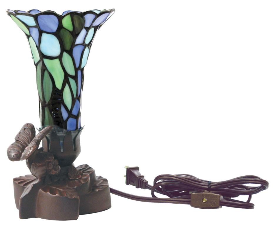 Tiffany Style Floral Lamp $ 148.00  5.25 L x 5.25 W x 9 H.