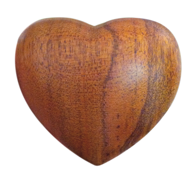 Wood Heart Keepsake  75.00 2.75H x 3.25W x 1.25D
