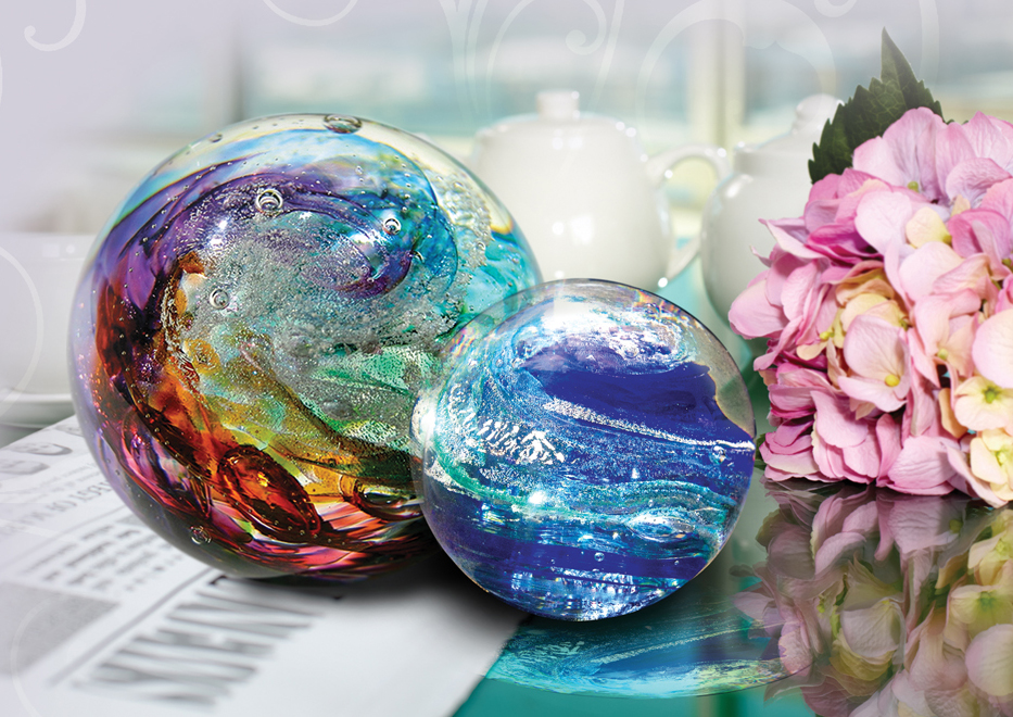 Glass Sphere Small  278.00 3 Dia.  Large  398.00 4 Dia.