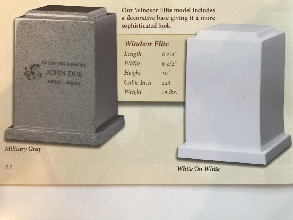 Windsor  Elite Urn $ 295.00 - $ 395.00