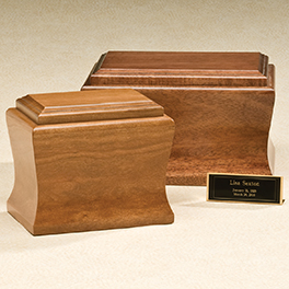 Cambridge Urn: Cherry $ 395.00 Mahogany $ 425.00 10.25W x 6. 875D x 6.25H (200 cu in.) Keepsake 7.25 xW x 5 D x 6.25 H