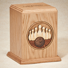 Bowling Urn Oak $ 425.00 Walnut $ 395.00 8W x 7-1/2D x 9H (200 cu. in.)