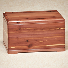 Cedar Path Urn  235.00 9-78W x 6-12D x 6-12H 200 cu. in.