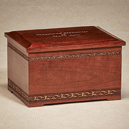 Cherry Urn Memory Box $ 350.00 10-1/2W x 8-1/2D x 6-1/2H (200 cu. in.)