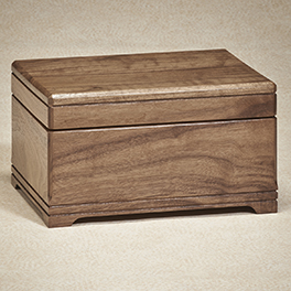Walnut Memory Box  450.00 10-34W x 8-34D x 6-14H 220 cu. in.