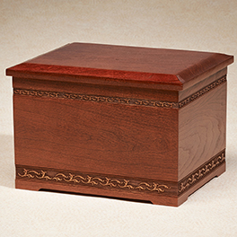 Cherry Companion Urn $ 360.00 10-1/2W x 8-1/2D x 7-1/2H (400 cu. in.)