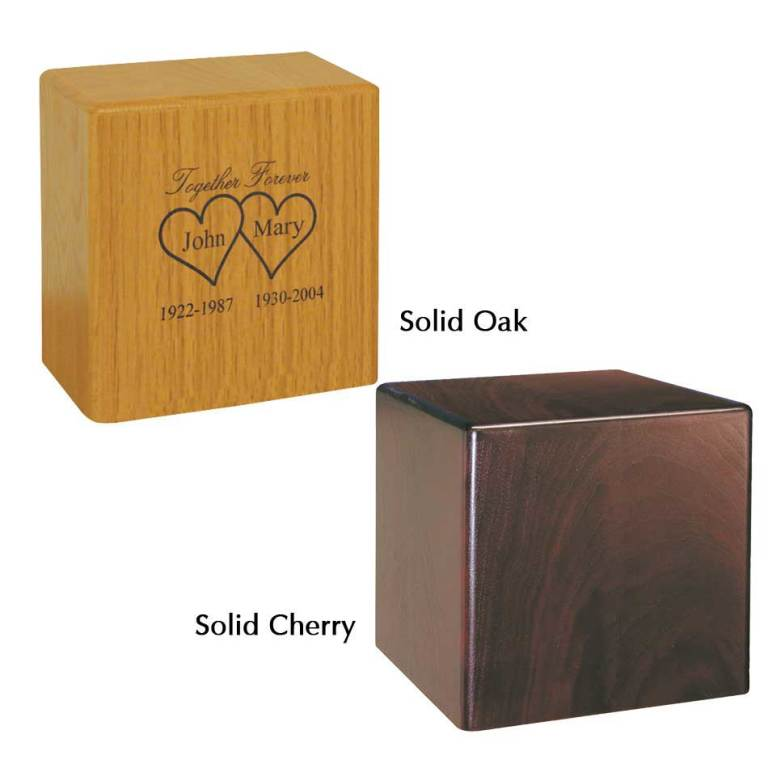 "Solid Oak or Solid Cherry  $ 261.00 10"" w x 7.1"" D x 9.8"" H (400 cu. in)"
