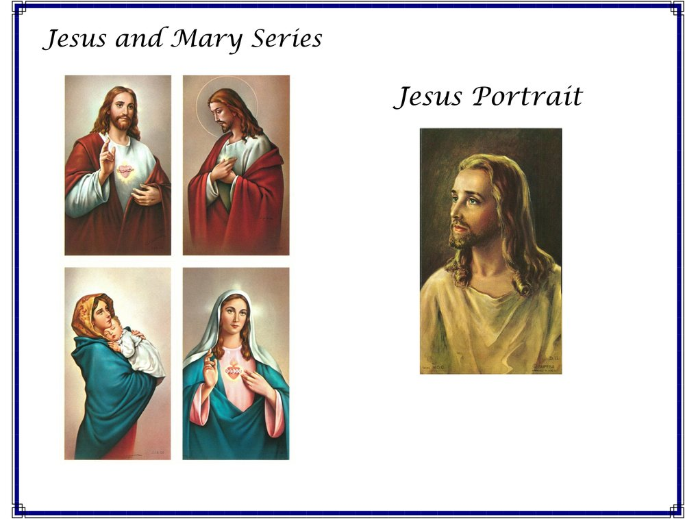 Jesus and Mary cards are a series, and the Jesus Portrait is one image.