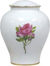 Porcelain Collection Urn Rose195