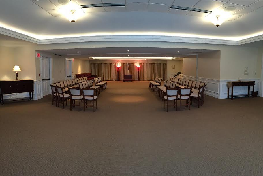 Looking toward the front of the Chapel - Optional seating arrangement