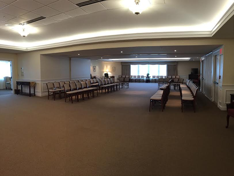 Looking toward the back of the Chapel - Optional seating arrangement