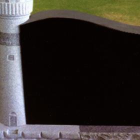 Jet Black upright monument