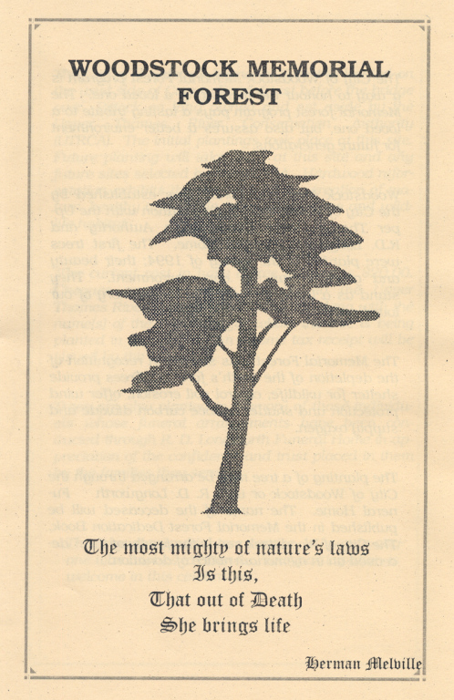Cover of the Memorial Forest Program.
