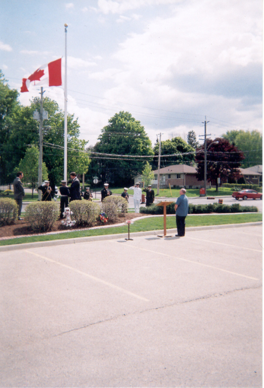 Raising of the Flag in Memory of those who served.