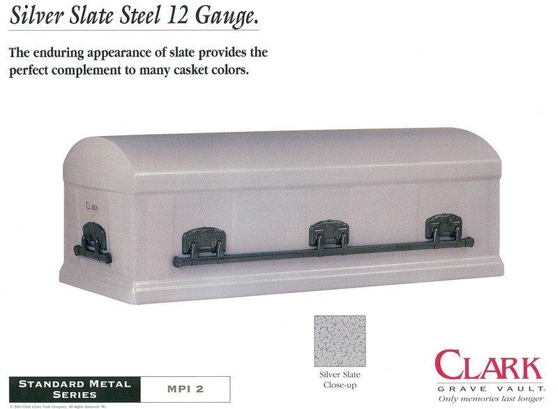 Silver Slate Steel 12 Gauge