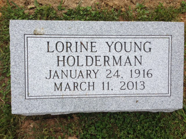 The Monument of Lorine Young Holderman