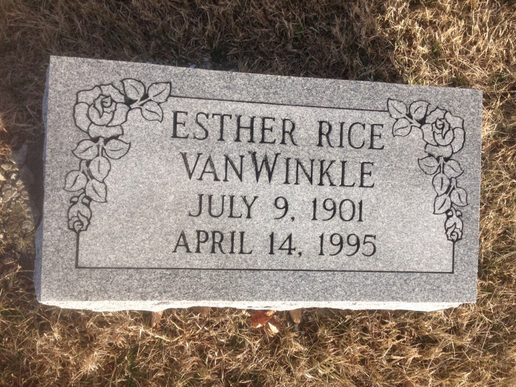 The Monument of Esther Rice VanWinkle