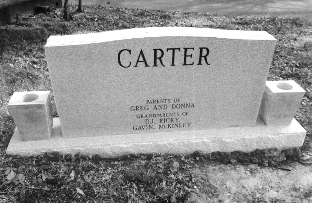 The Monument of Phillip Junior  Betty Sue Carter