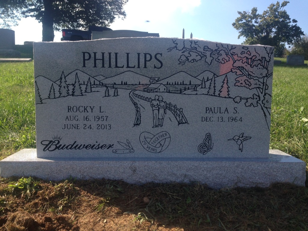 The Monument of Rocky L.  Paula S. Phillips
