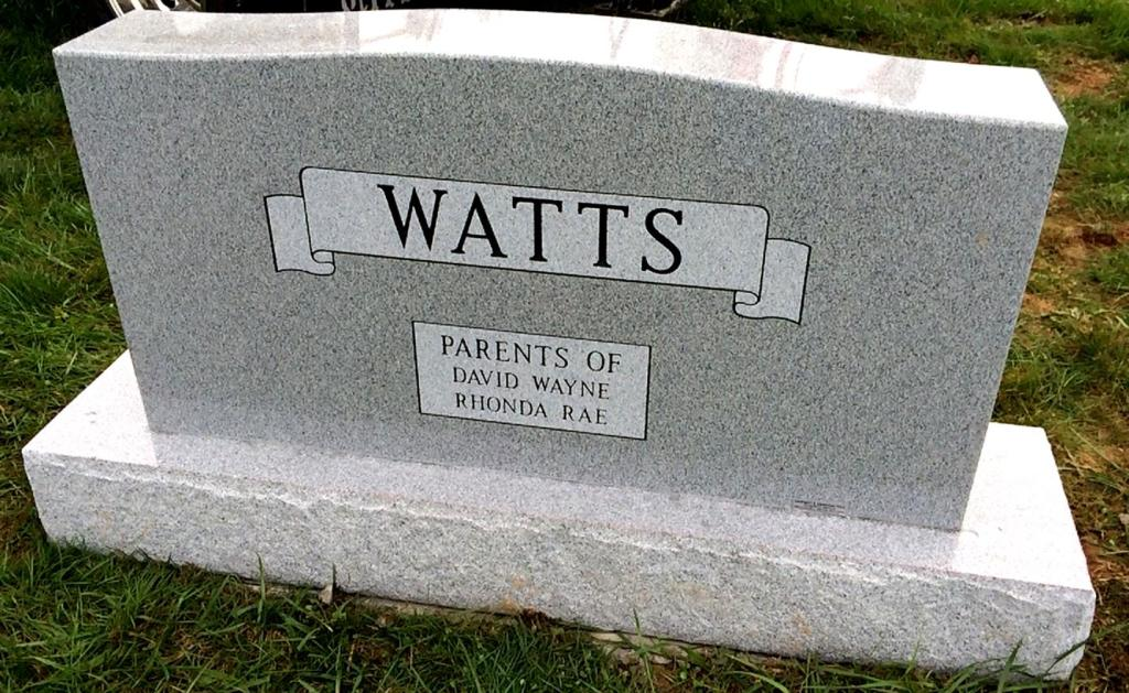 The Monument of William D.  Pauline G. Watts