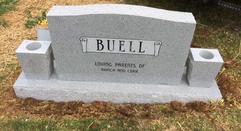 The Monument of Marion Mike Buell, Jr.  Linda Lee Atwood Buell