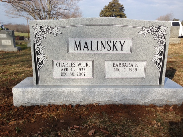 The Monument of Charles W. Malinsky, Jr.  Barbara F. Malinsky