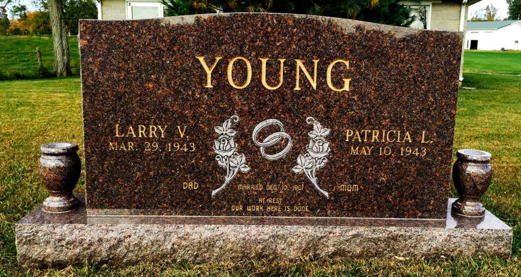 The Monument of Larry V.  Patricia L. Young