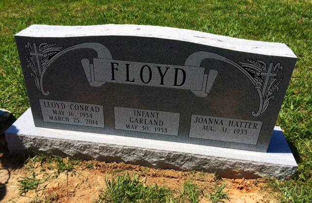 The Monument of Lloyd Conrad, Joanna Hatter,  Garland infant Floyd
