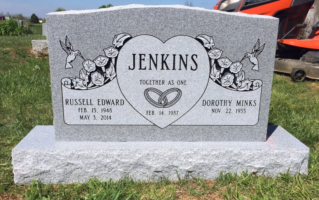The Monument of Russell Edward  Dorothy Minks Jenkins