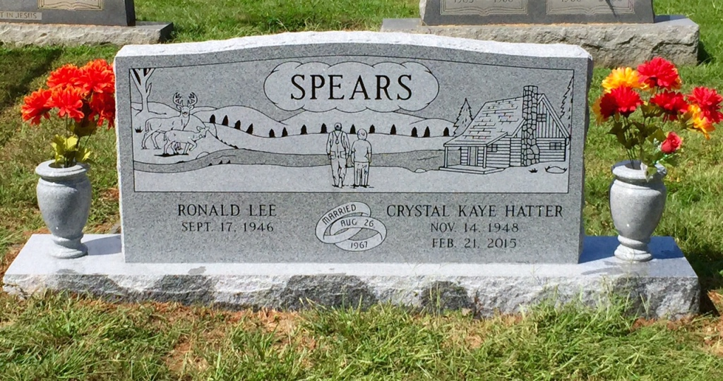 The Monument of Ronald Lee  Crystal Kaye Hatter Spears