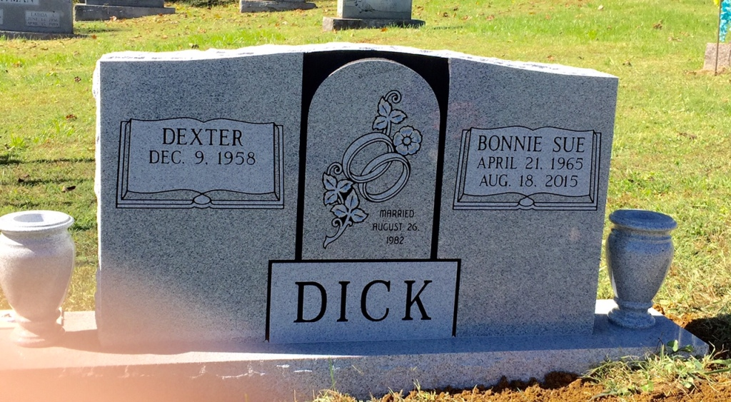 The Monument of Dexter  Bonnie Sue Dick