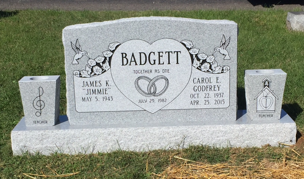 The Monument of James K. Jimmie  Carol E. Godfrey Badgett