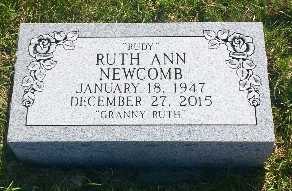 The Monument of Ruth Ann Rudy Newcomb