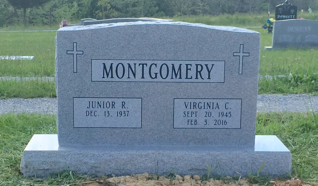 The Monument of Junior R.  Virginia C. Montgomery