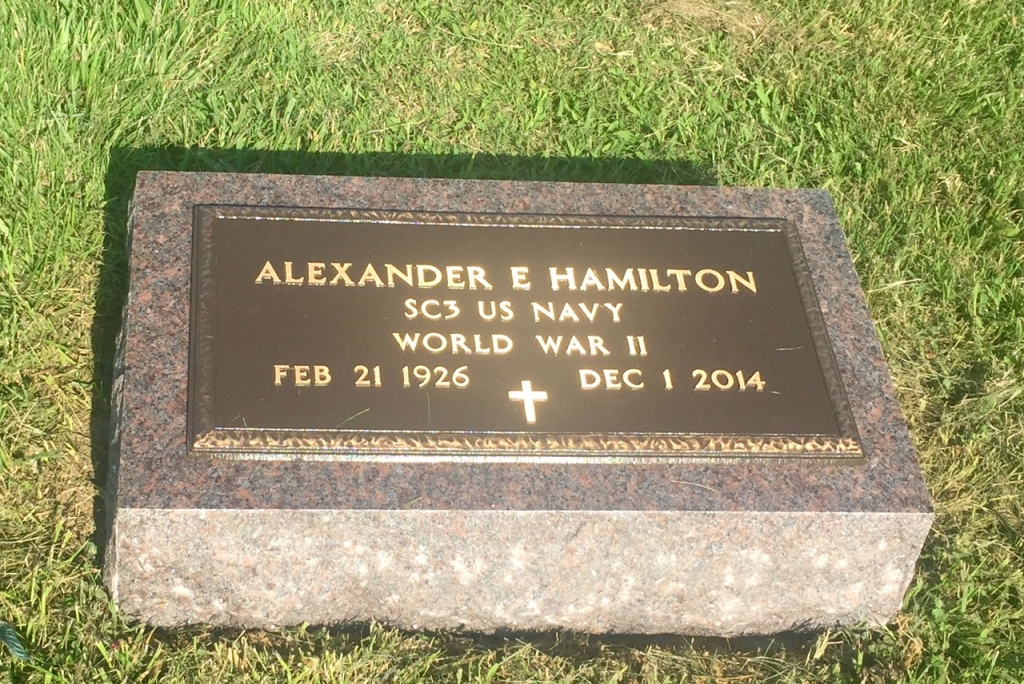 The VA Foot Marker for Alexander E. Hamilton
