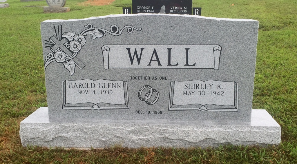The Monument of Harold Glenn  Shirley K. Wall