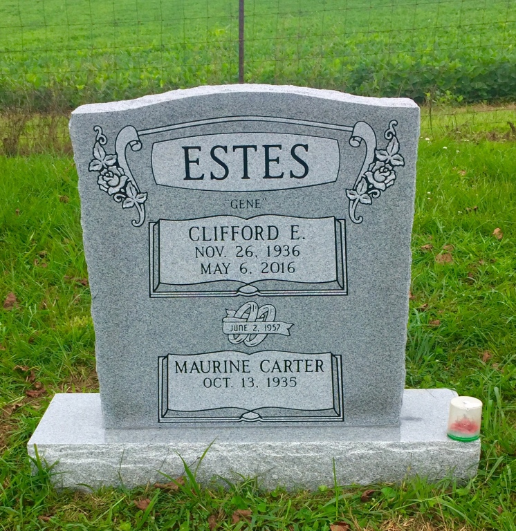 The Monument of Clifford E. Gene  Maurine Carter Estes