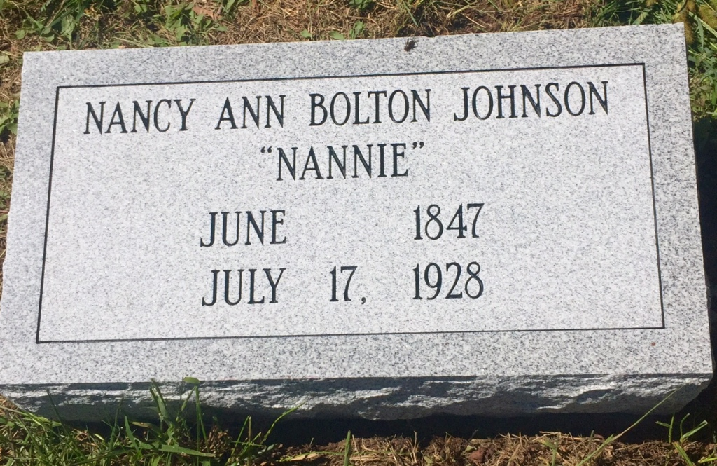 The Monument of Nancy Nannie Ann Bolton Johnson
