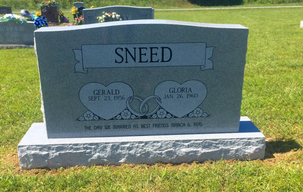The Monument of Gerald  Gloria Sneed