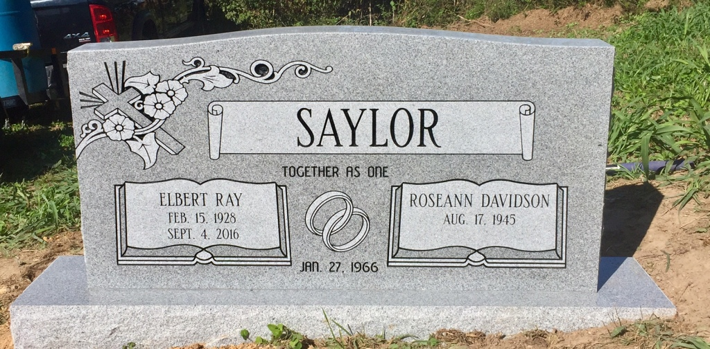 The Monument of Elbert Ray  Roseann Davidson Saylor