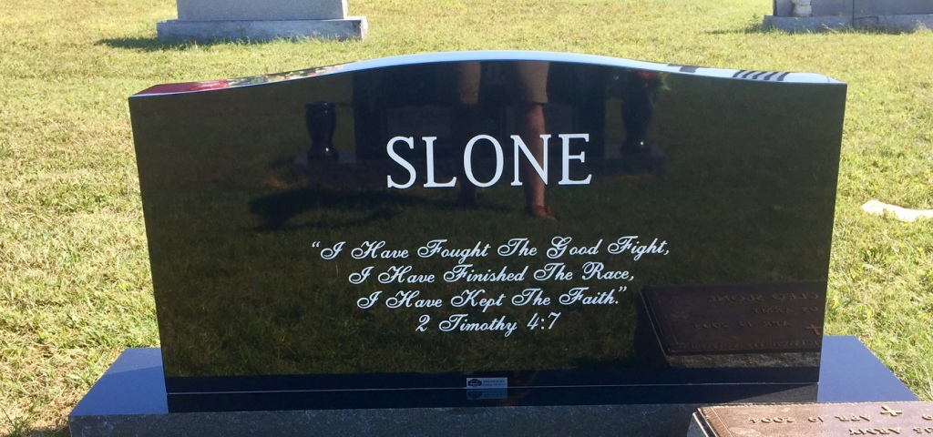 The Monument of Thomas Tom Harlan Slone, Jr.  Flora Justine Center Slone