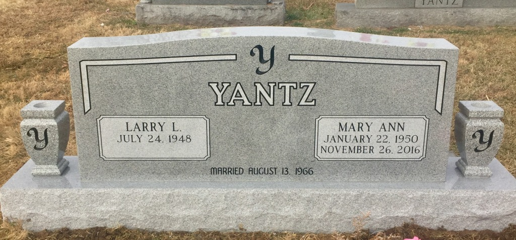The Monument of Larry L.  Mary Ann Yantz